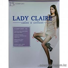 k1-6132 Тонкие контурные колготки с шелковистым эффектом Lady Claire, 1 пачка (12 шт)