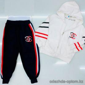 d1-C21008 Костюм двойка детский: толстовка на молнии и штаны, 6-11 лет, хб, 1 пачка (6 шт)