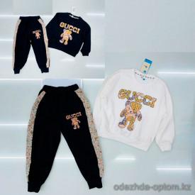 d1-C21032 Костюм двойка детский: свитшот и штаны, 6-11 лет, хб, 1 пачка (6 шт)