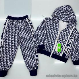 d1-Q21129 Костюм двойка детский: толстовка на молнии и штаны, 6-11 лет, хб, 1 пачка (6 шт)