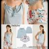 b5-0065tdp Indefini Женский комплект: сорочка и шорты, 1 пачка (4 шт)
