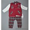d4-449 Детский комплект: жилет, штаны, свитшот, 6-12 мес, 1 пачка (3 шт)