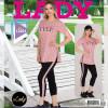 e1-12001 Lady Lingerie Комплект домашней одежды: футболка + капри, M-XL, 1 пачка (2 шт)