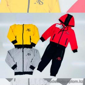 d1-l8736 Костюм детский спортивный двойка: штаны и олимпийка, 1-4 года, трикотаж, 1 пачка (4 шт)