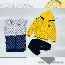 d1-l8798a Костюм детский спортивный двойка: штаны и олимпийка, 3-7 лет, трикотаж, 1 пачка (5 шт)