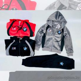 d1-l9032 Костюм детский спортивный двойка: теплые штаны и олимпийка, 5-8 лет, велюр, 1 пачка (4 шт)