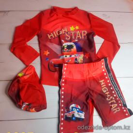 z4-9225 Купальный костюм детский с шапочкой, L-2XL, 1 пачка (3 шт)