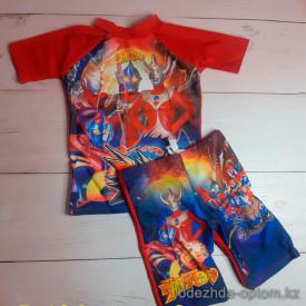 z4-B104 Купальный костюм детский, двойка, M-2XL, 1 пачка (4 шт)