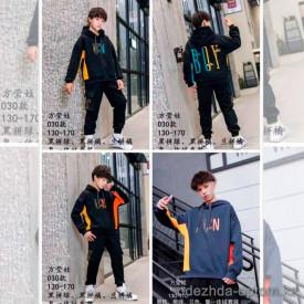 d1-030 Костюм на мальчика двойка: штаны и худи, 7-11 лет, подклад-велюр, 1 пачка (5 шт)