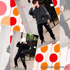 d1-68231 Костюм на мальчика двойка: штаны и свитшот, 10-14 лет, подклад-велюр, 1 пачка (4 шт)