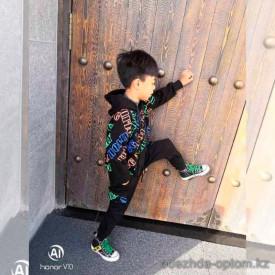 d1-8423 Костюм на мальчика двойка: штаны и толстовка, 5-8 лет, подклад-велюр, 1 пачка (4 шт)