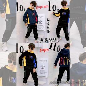 d1-8831 Костюм на мальчика двойка: штаны и худи, 7-10 лет, подклад-велюр, 1 пачка (4 шт)