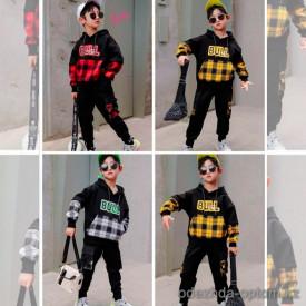 d1-q68232 Костюм на мальчика двойка: штаны и худи, 5-8 лет, подклад-велюр, 1 пачка (4 шт)