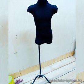 v1-784 Манекен швейный: детский торс, на кованой ножке, черный, 1 шт