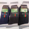 n6-GUCCI Носки мужские шерстяные, 40-45, 1 пачка (12 пар)