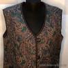 kz1-571 Национальная одежда: Жилетка женская стеганая, хлопчатобумажное полотно, 1 шт