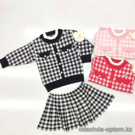 d1-6617 Костюм детский двойка: кофта и юбка, 3-7 лет, 1 пачка (5 шт)
