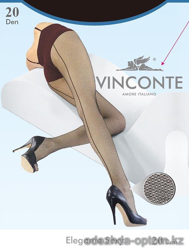 k4-8019 Vinconte Женские тюлевые колготки со стрелкой, 20 ден, 1 пачка (6 шт)