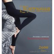 k4-lp14 Катюша Женские двух шовные лосины с начесом, 2600 ден, 1 пачка (6 шт)