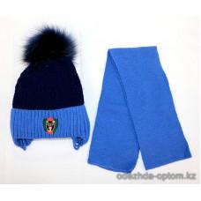 c1-367 Детская шапка с шарфом, 3-5 лет, 1 шт