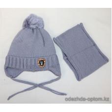 c1-370 Детская шапка с шарфом, 4-7 лет, 1 шт