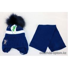 c1-374 Sirius Детская шапка с шарфом, 6-7 лет, 1 шт