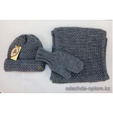 c1-381 Комплект: шапка, варежки, шарф, 1 шт