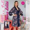 e1-2004-2 Miss Lolita Комплект женской домашней одежды: халат + сорочка, атлас, S-XL, 1 пачка (4 шт)