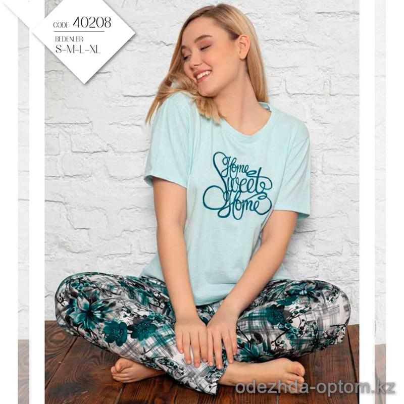e1-40208 Комплект женской домашней одежды: футболка + штаны, S-XL, 1 пачка (6 шт)
