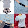b5-0066tdb Indefini Пижама женская: футболка + шортики, S-XL, 1 пачка (4 шт)