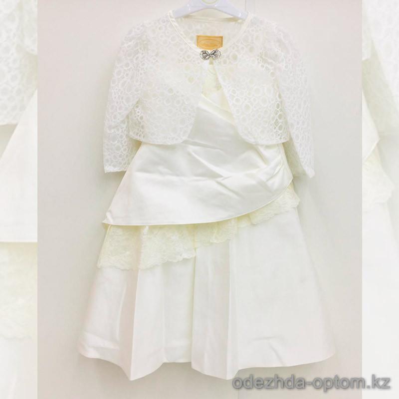 d1-6318 Платье на девочку праздничное, х/б, 6-11 лет, 1 пачка (6 шт)