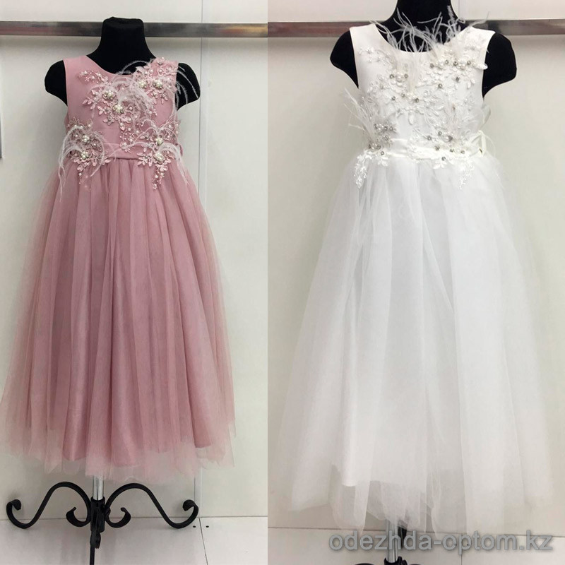 d1-6319 Платье на девочку праздничное, х/б, 5-8 лет, 1 пачка (4 шт)