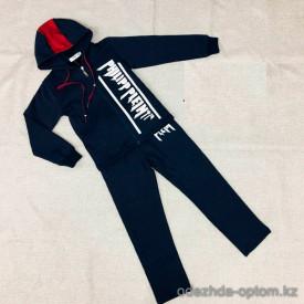 d1-L3802 Спортивный костюм на мальчика: толстовка на молнии и штаны, 7-12 лет, 1 пачка (5 шт)