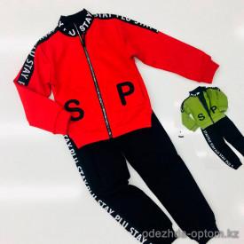d1-X174A Спортивный костюм на мальчика: толстовка на молнии и штаны, 3-7 лет, 1 пачка (4 шт)