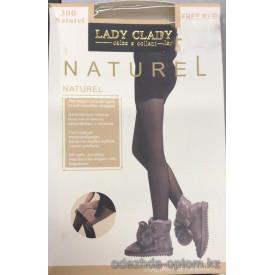 k1-9907 Lady Claire Женские гладкие колготки с начесом, имитация тонких, 300 ден, 1 пачка (6 шт)