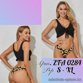 z2-ZTA0284 Купальник женский раздельный: топ и плавки с принтом, S-XL, 1 пачка (4 шт)