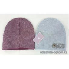 c1-334 Подростковая шапка на девочку, 8-18 лет, 1 шт