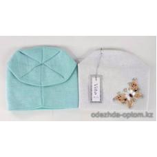 c1-335 Подростковая шапка на девочку, 8-18 лет, 1 шт