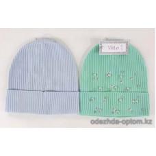 c1-345 Подростковая шапка на девочку, 8-18 лет, 1 шт