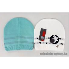 c1-351 Подростковая шапка на девочку, 8-18 лет, 1 шт