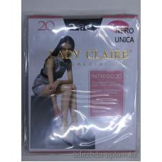 k1-L2353 Lady Claire Тонкие прозрачные носочки с мягкой резинкой Intrigo (2 пары), 20 ден, 1 пачка (5 шт)