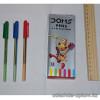 a1-6611 Doms pens Ручка шариковая разноцветная, 1 пачка (12 шт)