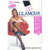 k3-Camelia20 Glamour Glamour Женские cамодержащие чулки, 20 ден, 1 пачка (6 шт)